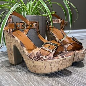 CALL IT SPRING cork wedge sandals
